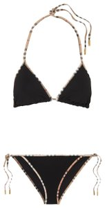 Burberry Beige black multicolor Burberry London Nova Check two-piece swimsuit