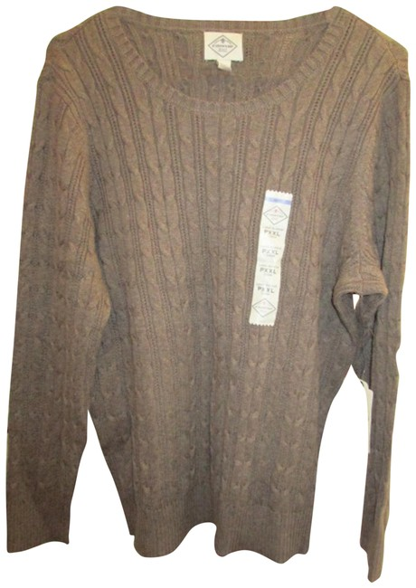 Item - Cable Knit Size Pxxl By Taupe Sweater