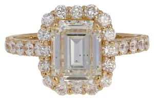 Wilson Brothers Jewelry NEW 3.70ctw Emerald Cut Diamond Engagement Ring 18k Yellow Gold E3505