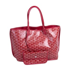 Goyard Coated Tote in Red