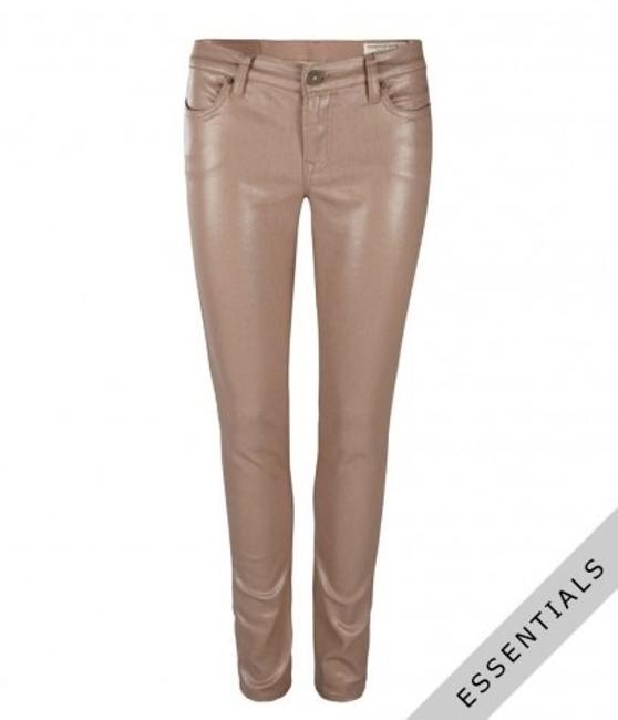 Item - Nude with Pink Undertones Coated Petrel Brodie Skinny Jeans Size 29 (6, M)