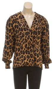 Anne Klein Button Down Shirt Multi-Color