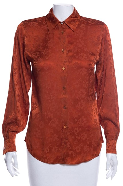 Item - Rust Button Down Blouse Size 6 (S)