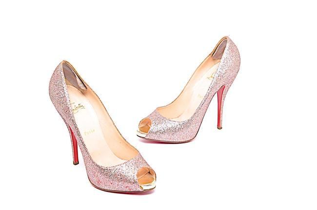 "Item - Multi Color Sparkle Hidden Platform 5"" Heel Peep Toe Pumps Size EU 39.5 (Approx. US 9.5) Regular (M, B)"