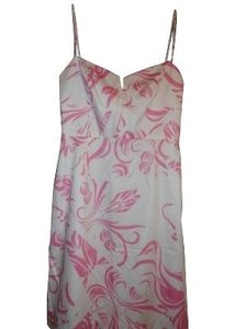 White and pink Maxi Dress by MILLY