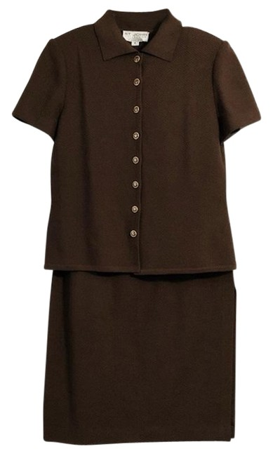Item - Brown Vintage Collection Santana Knit Polo & Skirt Suit Size 6 (S)