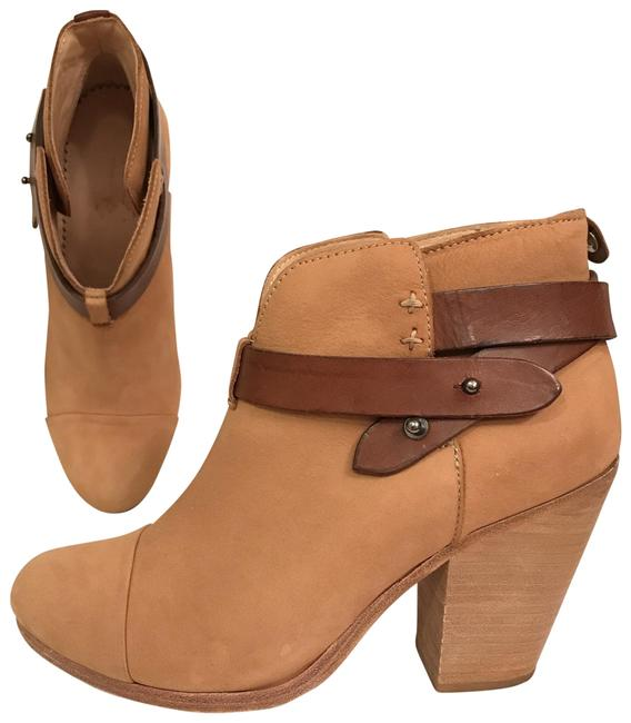 Item - Beige Brown Tan Camel Harrow Distressed Leather/Suede Boots/Booties Size EU 37.5 (Approx. US 7.5) Regular (M, B)