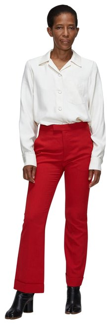 Item - Red Wool Blend Kick Fit Flare Pants Size 10 (M, 31)