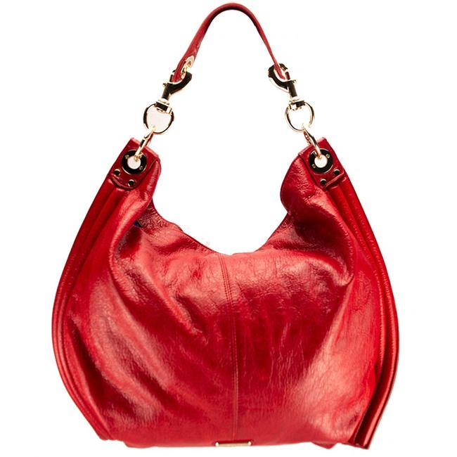 Item - Luscious Red Leather Hobo Bag