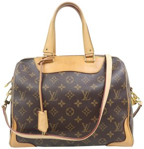 Louis Vuitton Lv Retiro Nm Monogram Canvas Satchel in Brown