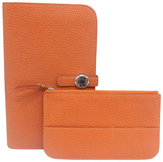Hermes HERMS Togo Dogon Duo Combined Wallet Image 0