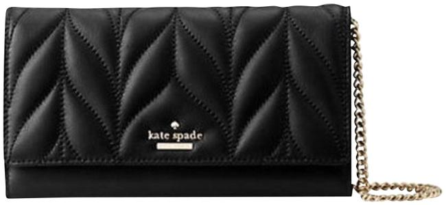 Kate Spade Briar Lane Milou Black Quilted Leather Clutch Kate Spade Briar Lane Milou Black Quilted Leather Clutch Image 1