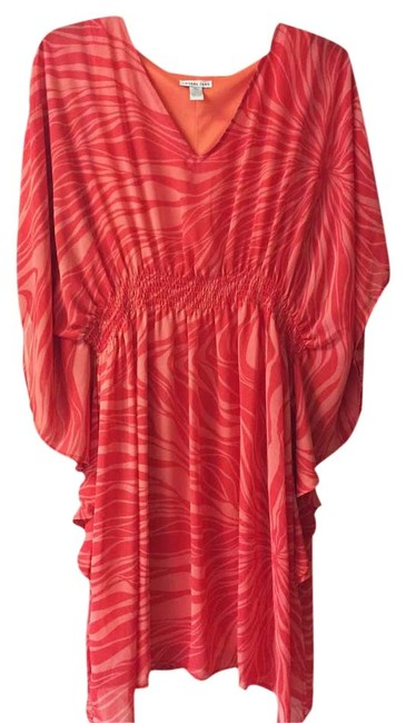 Preload https://img-static.tradesy.com/item/2640271/amanda-lane-coralorange-kaftan-knee-length-short-casual-dress-size-16-xl-plus-0x-0-0-650-650.jpg