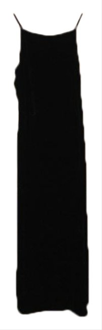 Item - Black XS Women's Vintage 90's Velvet Midi Mid-length Casual Maxi Dress Size 0 (XS)