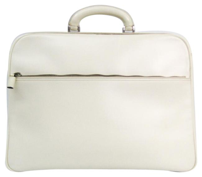 Item - Briefcase Brown White Leather Messenger Bag