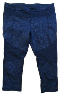 Lululemon LULULEMON MESH WITH ME ANIMAL SWIRL CROP PANTS