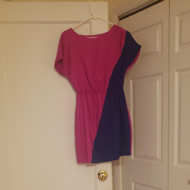 Item - Pink and Blue. Short Casual Dress Size 2 (XS)