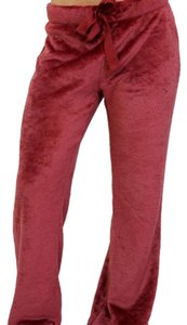 Cherokee Sweat Athletic Faux Velvet Relaxed Pants Red