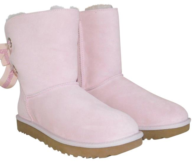 Item - Seashell Pink Bailey Bow Suede Shearling Customizable Boots/Booties Size US 8 Regular (M, B)
