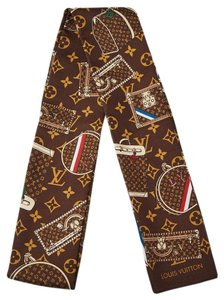 Louis Vuitton Brown multicolor silk Louis Vuitton Trunks and Bags Bandeau