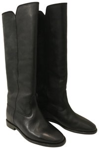 Isabel Marant Etoile Black Leather Chess Tall Boots Size 6.5