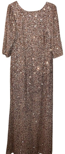 Item - Gold Sequin Lucent Long Formal Dress Size 14 (L)