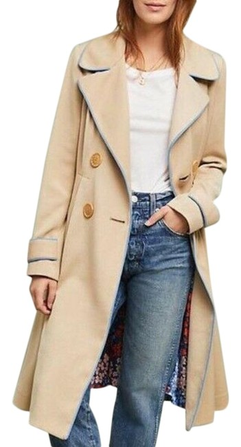 Item - Beige Piped Coat Size 0 (XS)