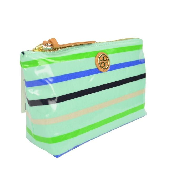 Item - Mint Multi Small Slouchy Stripe Cosmetic Bag