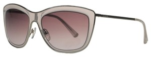 Valentino Valentino Rose Clear Rectangular Sunglasses