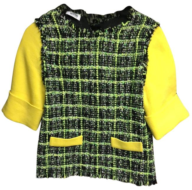 Item - Yellow Black Green Never Worn Colorful Blouse Size 2 (XS)