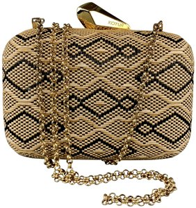 Kotur Handbag Gold Chain Woven Shoulder Bag