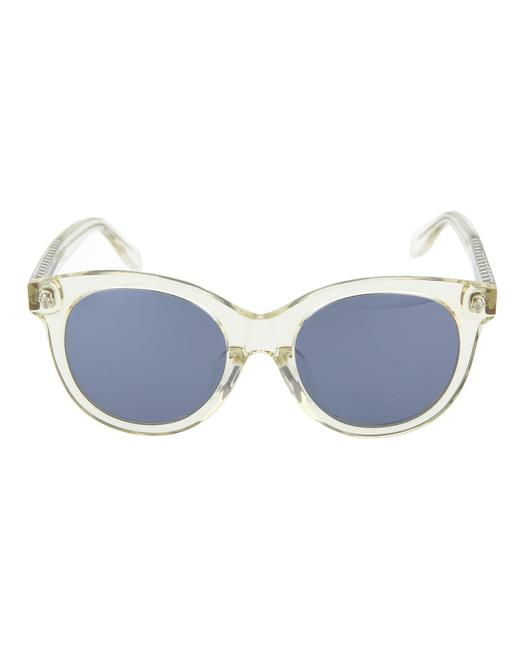 Item - Yellow Yellow Silver Square/Rectangle Sunglasses