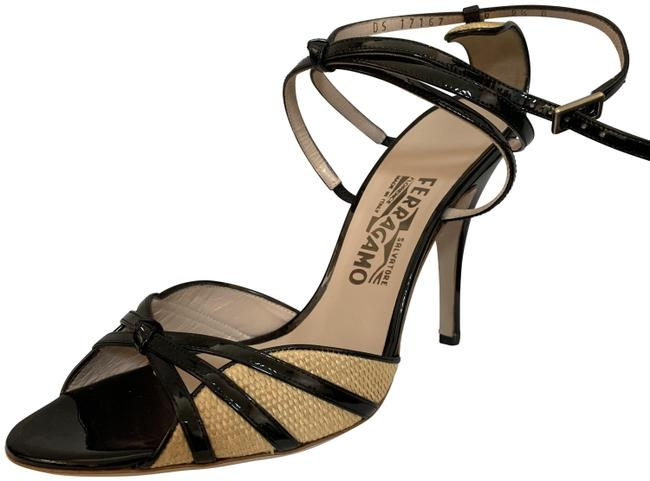 Item - Black Nero Patentcalf Caramello Fabric Sandals Size US 9.5 Regular (M, B)