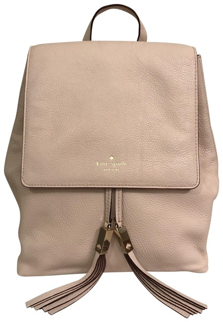 Item - New Wilder Grey Street Beige Blush Nude Gold Leather Backpack