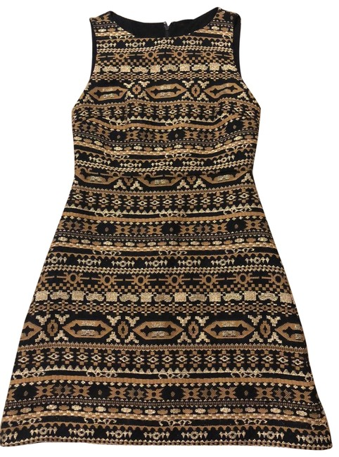 Item - Black and Gold Short Casual Dress Size 0 (XS)