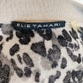 Elie Tahari Gray Joss Leopard and Lace Cardigan Size 4 (S) Elie Tahari Gray Joss Leopard and Lace Cardigan Size 4 (S) Image 5