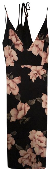 Preload https://img-static.tradesy.com/item/26408700/lovely-day-black-rose-green-floral-sexy-mid-length-night-out-dress-size-10-m-0-1-650-650.jpg