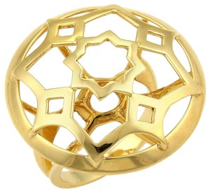 Tiffany & Co. Picasso Zellige 18k Yellow Gold Large Open Round Ring