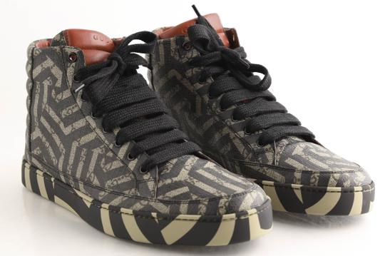 Gucci Beige Gg Caleido Canvas High-top Sneaker Shoes Image 1