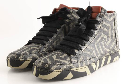 Gucci Beige Gg Caleido Canvas High-top Sneaker Shoes Image 3