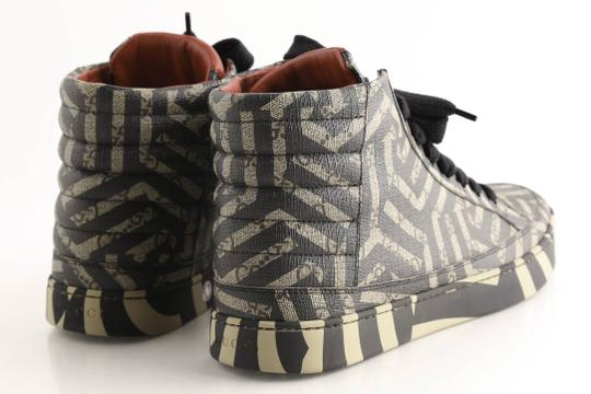 Gucci Beige Gg Caleido Canvas High-top Sneaker Shoes Image 4