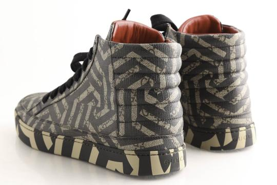 Gucci Beige Gg Caleido Canvas High-top Sneaker Shoes Image 6