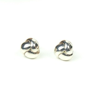 Tiffany & Co. Sterling Silver Braided Ball Earrings Small Studs