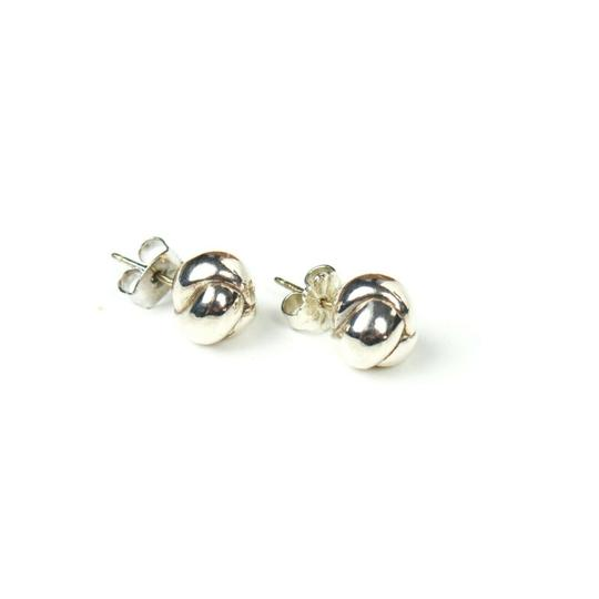 Tiffany & Co. Sterling Silver Braided Ball Earrings Small Studs Image 1