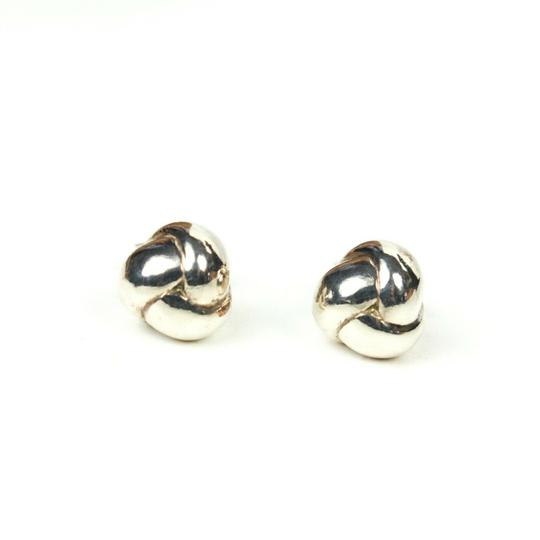 Tiffany & Co. Sterling Silver Braided Ball Earrings Small Studs Image 2