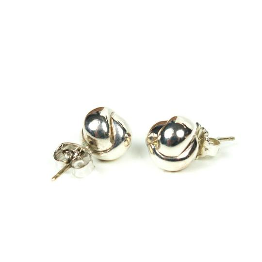 Tiffany & Co. Sterling Silver Braided Ball Earrings Small Studs Image 3