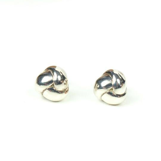 Tiffany & Co. Sterling Silver Braided Ball Earrings Small Studs Image 6