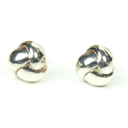 Tiffany & Co. Sterling Silver Braided Ball Earrings Small Studs Image 9