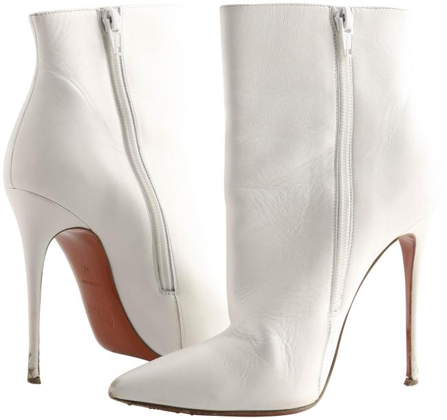 Item - White So Kate 100 Leather Ankle Boots/Booties Size US 7 Regular (M, B)