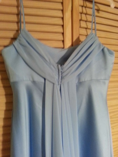 Alfred Angelo Blue Satin 6308 Formal Bridesmaid/Mob Dress Size 14 (L)